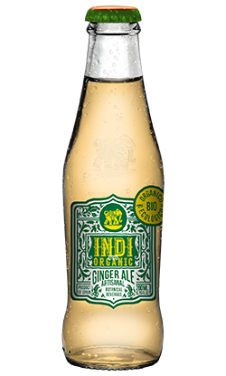Soft Drinks Indi Ginger Ale Botella Organic